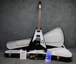 2012 Gibson Gloss Series 1968 Flying V Electric Guitar w/ OHSC Ebony