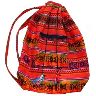 beautiful backpack ethnic fabric aguayo bolivia bag boho hippie vi