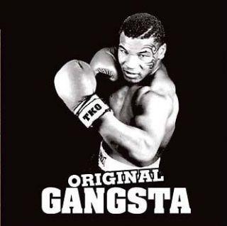 MIKE TYSON ORIGINAL GANGSTA t shirt boxing gym MENS