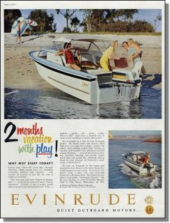 1959 Evinrude outboard motor ~ Glasspar Seafair Boat ~ Family fun