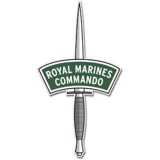 British Army Royal Marines Commando Emblem Car Vinyl Sticker Decal