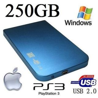 250GB EXTERNAL USB ULTRA SLIM POCKET DRIVE 2.5 BRAND NEW STORE VIDEO