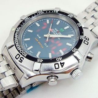 Newly listed Mens Sport Dive Watch Waterproof LED Chronograph Quartz