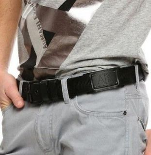 Armani Exchange A/X Logo Patch Belt Size 32 BN 100% Authentic