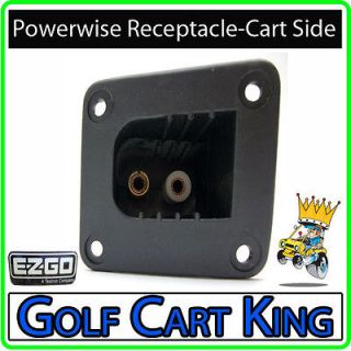 EZGO Golf Cart PowerWise Charger Receptacle Only  Electric Golf Cart