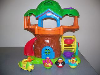 Weebles MUSICAL TREEHOUSE Playset Figures Accessories Retired bike Lot