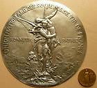silver plated bronze medal by H.DUBOIS / F. BARBEDIENNE 253 mm
