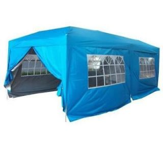 Peaktop 20x10 EZ Pop Up Party Tent Canopy Gazebo 6 Walls Lb With Free