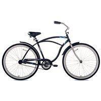 2027944 26 SATIN BLACK MENS BEACH CRUISER BIKE BICYCLE HEAVY DUTY