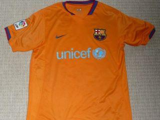Barcelona Messi #19 original vintage away football jersey shirt mens