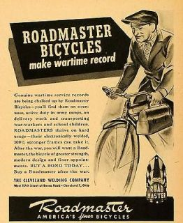 Welding Roadmaster Bicycles World War II Transport Lunch Pail