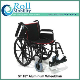 Roll Mobility GT 18 Seat Aluminum Wheelchair Quick Release Wheels