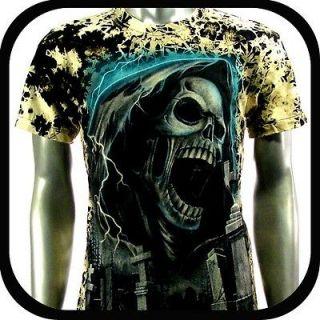 Rock Eagle T Shirt Biker Indie Tattoo RE108 Sz L Punk Skull mma Rider