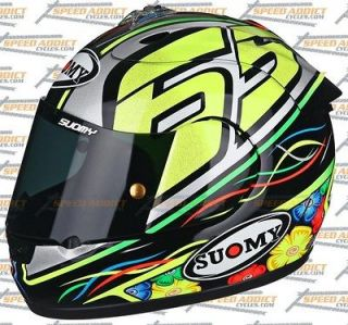 Suomy Excel 2012 Capirossi Full Face Motorcycle Helmet Small