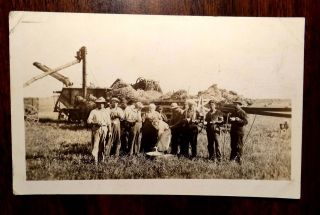 WOMEN FEEDING CREW IN FIELD HORSE DRAWN FARM EQUIPMENT Photo Postcard