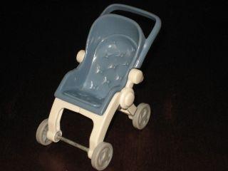 Loving Family Dollhouse BLUE STROLLER BABY BOY FIGURE TWIN DOLL HOUSE