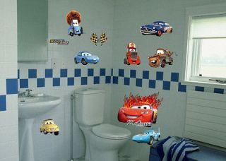 New Disney Cars Wall Sticker Nursery Kids Decals Decor Removable