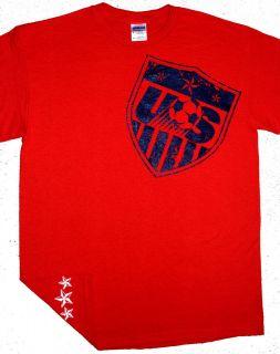 US Soccer National Team Destroyed Logo T shirt Tee USA