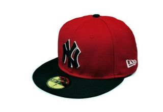 NEW ERA 59FIFTY MLB BASEBALL CAP NEW YORK YANKEES RED BLACK WHITE
