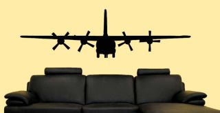 130 Military Army Airplane Wall Sticker Vinyl Decal L