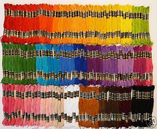 Iris Embroidery Floss   Lot of 150 SKEINS   35 Assorted Colors, 8.75