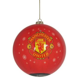 Manchester United Utd FC Official Football Flashing bauble Christmas