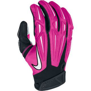 Nike Breast Cancer NFL Equipment Superbad Football Gloves Mens X Large