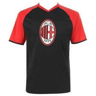 Sarragan Mens AC Milan Football Soccer T Shirt Top