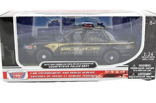2010 FORD CROWN VICTORIA POLICE INTERCEPTOR BLACK 1/24 DIECAST CAR