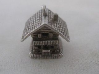 Newly listed VINTAGE sterling SILVER ARTICULATED SWISS alpine COTTAGE