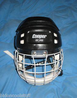 COOPER SK 600 SK600 Black Hockey Hurling Helmet With Cage Visor