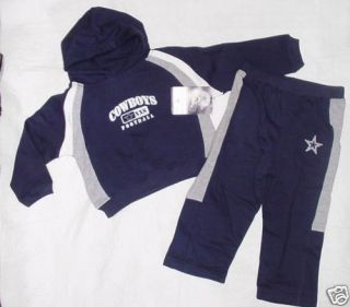 NWT New Dallas Cowboys Sweat Shirt Suit Pants Hoodie Navy Toddler Boys