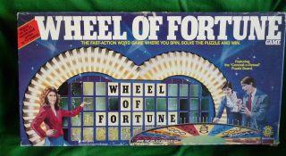 Wheel of Fortune Board Game TV Game Show 1986 Complete Pressman