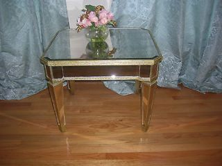 Shabby french style HORCHOW  AMELIE MIRRORED END TABLE