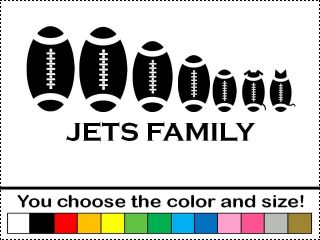 Jets Football Family Sticker Vinyl Decal Car Foot Ball New York