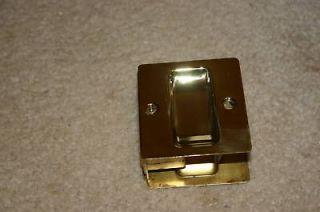 Pocket Door Pull   Sliding Closet Door Polish Brass
