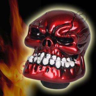 Human Bone Skull Stick Shift Gear Shifter Knob   Car Truck Universal