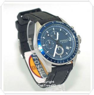 FOSSIL MENS DECKER CHRONOGRAPH BLUE WATCH CH2691