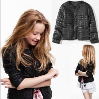 Children/baby/Girl leather jacket kids fashion jacket,girl fashion