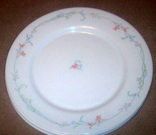 China~Odessa~Blue & Pink Floral Pattern DINNER PLATES 10 3/4~ France