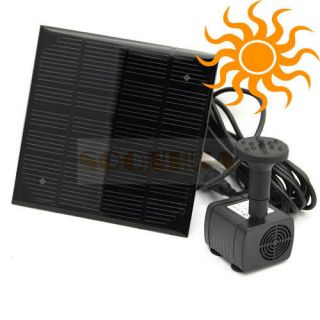 Solar Power Fountain Pool Water Pump Garden Watering 7V 1.12W New