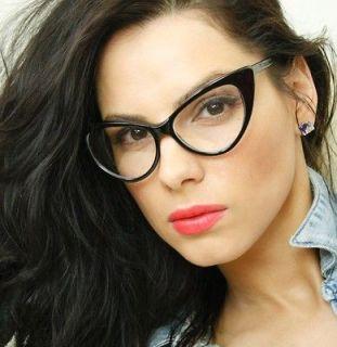 253b8eb09bc ... Retro Clear Lens Black Cat Eye Fashion Frame Womens Sexy Eyeglasses ...