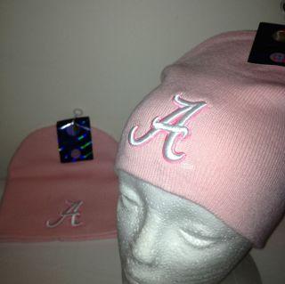 NCAA University of Alabama Crimson Tide Beanie Pink Knit Ski Hat Skull