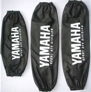 Yamaha Raptor 700 Quad ATV Shock Covers Black Set of Three   Nylon