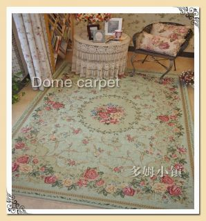 Classic Chinese Shabby Country Chic Floral Floor Mat Rug Carpet T