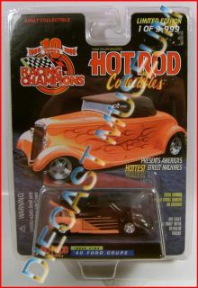 1940 40 FORD COUPE RC HOT ROD COLLECTIBLES RACING CHAMPIONS DIECAST