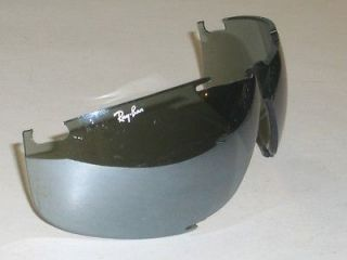 RAY BAN FULL SILVER MIRROR XRAYS SPORT WRAP SUNGLASSES LENS ONLY