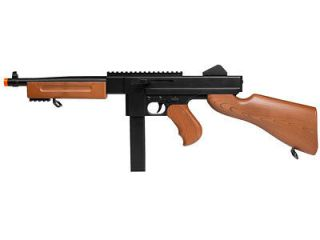 Thompson M1 Spring Airsoft Submachine Gun W/ Rail Full sized SMG