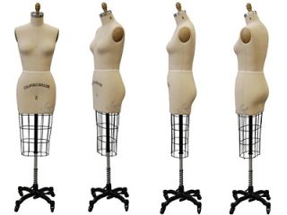 Professional Dress Form Design Pattern Mannequin Size 8 w/Hip+Free