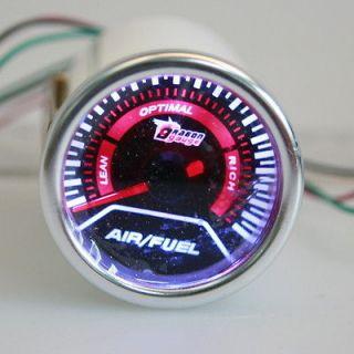 UNIVERSAL AIR/FUEL RATIO GAUGES KIT DC12V 2 52MM LED FOR CAR AUTO